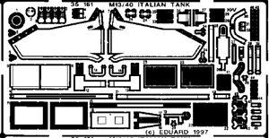 Eduard Photoetch for 1/35 Fiat M-13/40 for Tamiya kit