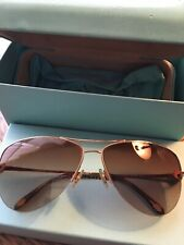 Tiffany & Co Aviator Sunglasses  Gold With Case