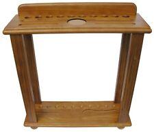 10 CUE FLOOR RACK for POOL TABLE/BILLIARD CUE STICKS in OAK~BERNER BILLIARDS~NEW