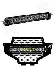 Rigid Industries 2012 Polaris RZR LED Grille & White Driving Light Bar