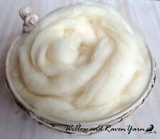 5 FEET Natural Cream SPECIAL FELTING WOOL ROVING Needle Felting Dolls Mandalas