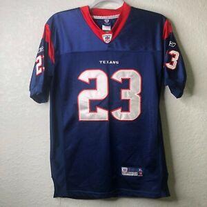 Men's Arian Foster Houston Texans Blue Stitched On-Field Reebok Jersey - Size XL