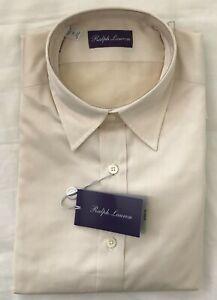 Ralph Lauren Purple Label Biege Shirt Medium  100% Cotton.
