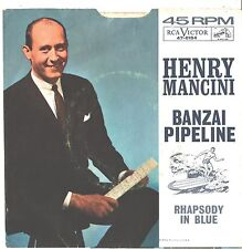 HENRY MANCINI--PICTURE SLEEVE ONLY--(BANZAI PIPELINE----PS---PIC---SLV