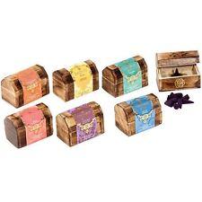 Esscents ROSE GERANIO incenso coni in Scatola in legno di stoccaggio petto Set Regalo