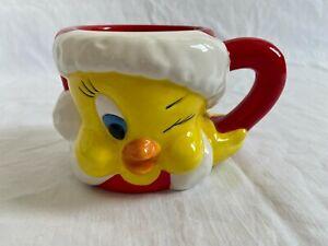 WB Warner Bros. Tweety Looney Tunes 1996 Tasse Mug 3D Weihnachten Christmas