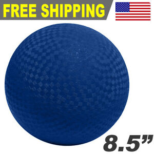 "Sports Rubber 8.5"" Premium Playground Dodgeball Kickball Game Ball - BLUE"