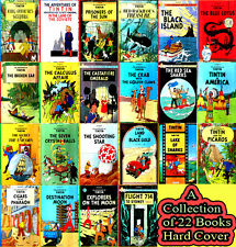 Tintin Comics Books Set Collection - Herge - 22 Hardcovers -  New Gift Quality