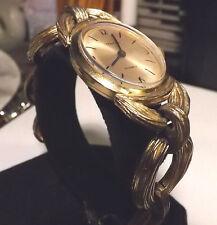 Vintage Oversize 1960s Swiss Geneva 17 Jewel Gold Wind Up Watch Works & Looks LN