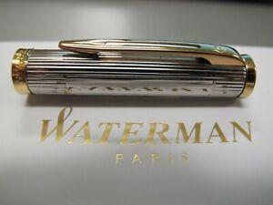 Waterman Preface Silver & Gold Trim Fountain or Rollerball Pen Cap New