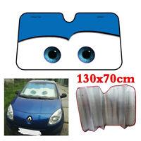Blue Cartoon Big Eye Style Car Windscreen Cover Sun Visor Shade Anti-UV 130×70CM