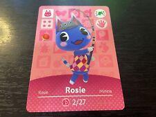 Rosie - Animal Crossing Amiibo Card - Amiibo Festival - Near Mint NM Unscanned
