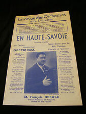 Partition En haute savoie Van Herck François Delale Music Sheet