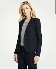 Ann Taylor Womens One Button Blazer Jacket in Seasonless Stretch Size 10 Black
