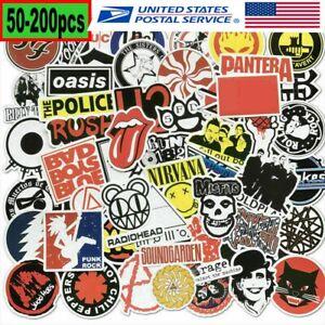50-200PCS Stickers Lot Rock Band Punk Music Heavy Metal Bands Laptop Car Bumper