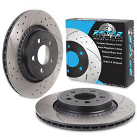 REAR DRILLED GROOVED 308mm BRAKE DISCS FOR VOLVO XC90 4.4 V8 3.0 T6 2.5 T 2.5 D5