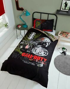 Call Of Duty Single Duvet Cover Reversible Bedding Set Cold War Ideal Gift