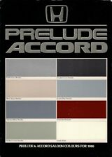 Honda Accord & Prelude Colour & Trim 1986 UK Market Leaflet Sales Brochure
