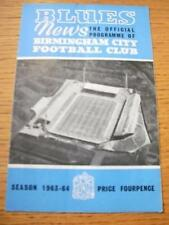 04/01/1964 - Birmingham City v Port Vale  (Folded, Slig