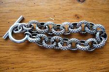 ancien bijou vintage bracelet serpent en métal argenté