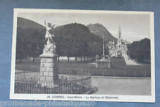 Postcard antique HEAVY - Saint-Michel - the Basilica and l'Esplanade