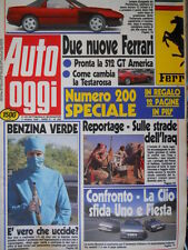 Auto Oggi 200 1990 Nuove Ferrari: pronta la 512 GT America. Clio e Fiesta [Q106]