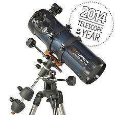 Celestron AstroMaster 114Eq Reflector Telescope Planetarium Software Tripod New!