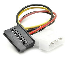Molex to SATA Power Adapter Cable 4 pin to 15 pin For HDD Hard Drive. 0145
