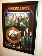 METALLICA    SIGNED   GOLD DISC  DISPLAY 6