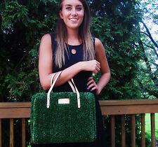 "Kate Spade ""Hold Court Quinn"" Tennis Astro Turf gold Grass Court Handbag Rare!"