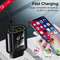 5V 2A QC3.0 Fast Quick Charging USB Port EU Plug Travel Wall Charger Adapter.