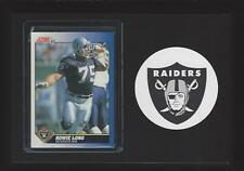 1991 Score Football #75 Howie Long Los Angeles Raiders Football Plaque