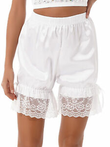 Lolita Bloomers Women Lace Ruffle Shorts Satin Underpants Cosplay Pajama Shorts