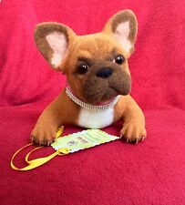��OOAK Needle felted French Bulldog dog 7*14in sculpture collection ��