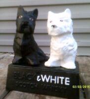 Black & White Scottie Dogs Advertisng for Buchanans Scotch Whisky Lovely Gift vo