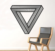Impossible Triangle Wall Decal Optical Illusion Vinyl Sticker Art Decor 49(nse)