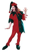 Elf Fleece Adult Set Costume, Red, Rubies, Santa's Helper