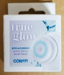 True Glow by Conair Sonic Facial Brush Replacement Brush Head For Face New!
