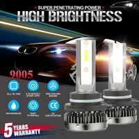 New 9005 HB3 H10 Mini COB LED Headlight Kit 2000W 220000LM High Beam Bulb 6000K
