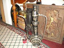 Superb India Turkish Middle Eastern Coffee Pot Water Pitcher-Large-Black Metal