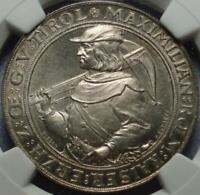 "1885 INNSBRUCK AUSTRIA Graded NGC MS64 Two Gulden ""SHOOTING THALER"" or ART MEDAL"