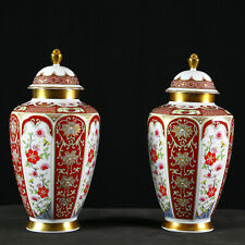 "Pair of Vingate VOHENSTRAUSS JOHANN SELTMANN 12"" Hand Painted Vases - Rare"