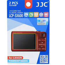 JJC LCP-SX600 polycarbonate LCD Film Screen Protector F Canon SX600 SX600HS  2PK