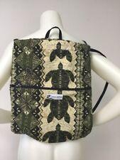 """Gym Sack String Backpack Book Bag Back Carrier Tribal Turtle Print 17"""" x 14"""""""