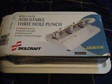 "Skill Craft Foothill 310 Heavy Duty 3 Hole Adjustable Punch 9/32"" Black"