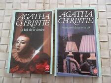 AGATHA CHRISTIE - 2 LIVRES - LE BAL DE LA VICTOIRE et MON PETIT DOIGT M'A DIT