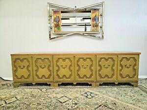 Vintage Baker Furniture Sideboard Credenza Shabby Chic Super Long 3 Cabinets