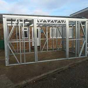 Garden Building Metal Frame, Shed Workshop Summer House Steel Room Various sizes