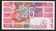 NEDERLAND BANKBILJET 25 GULDEN 1989 ROODBORSTJE UNC nieuw!