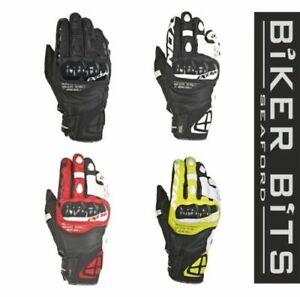 Ixon Rs Ring Textil / Leder Roaster Kurz Motorrad Handschuhe Ce Level 1